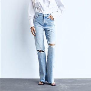 The famous Zara wide leg hi rise jeans!!